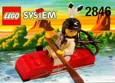 LEGO System 2846 Western Indianerkajak