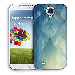 Snoogg Abstract Blue Pattern Designer Protective Phone Back Case Cover For Samsung Galaxy S4