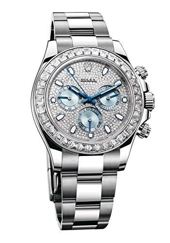 Rolex Daytona Platinum Watch Diamond Bezel Diamond Pave Dial 116576 Unworn