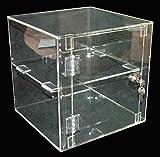 Vitrine verrouillable en acrylique 300 x 300 x 300 mm-vitrines de magasins de vente au détail