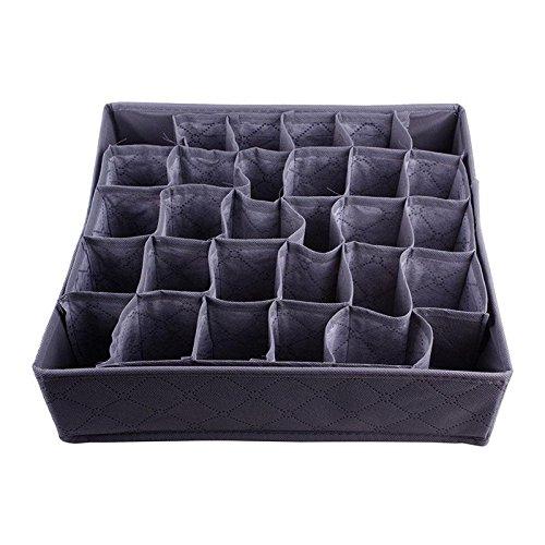 Stylish useful 30 Cell Bamboo Ties Box Closet Divider Drawer Wardrobe Closet Organizer Storage (Ties Storage compare prices)