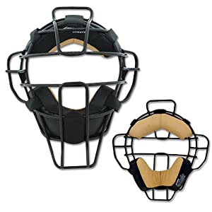 Champro Pro Plus Super Lite Mask Leather Pads (Black, 15.5-Ounce) by Champro