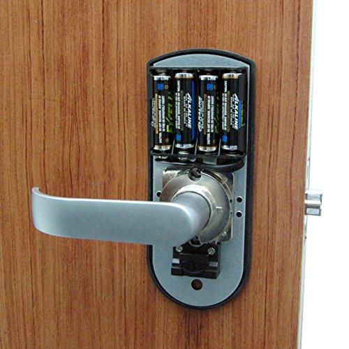 digi electronic biometric fingerprint keypad password door lock set 98 chrome right hand door. Black Bedroom Furniture Sets. Home Design Ideas