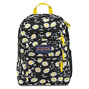 JANSPORT BIG STUDENT BLACK LUCKY DAISY BACKPACK