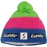 Eisbär Star Neon Pompon SP, Unisex Winter Cap, neon blue/pink/green, One Size