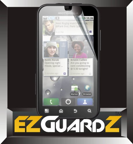 5-Pack EZGuardZ© T-Mobile Motorola Defy MB525 Screen Protectors (Ultra CLEAR)(EZGuardZ© Packaging)