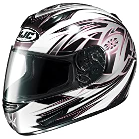HJC CL-15 Cyclone MC-8 Full Face Motorcycle Helmet White/Pink/Black Medium