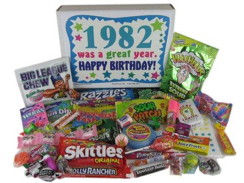 80s Retro Nostalgic Candy Decade 30th Birthday Gift Box Born 1982