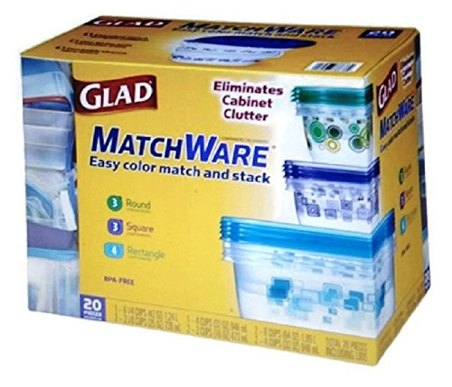 Glad MatchWare Food Storage Containers 20 Piece Variety Set (Glad Storage compare prices)