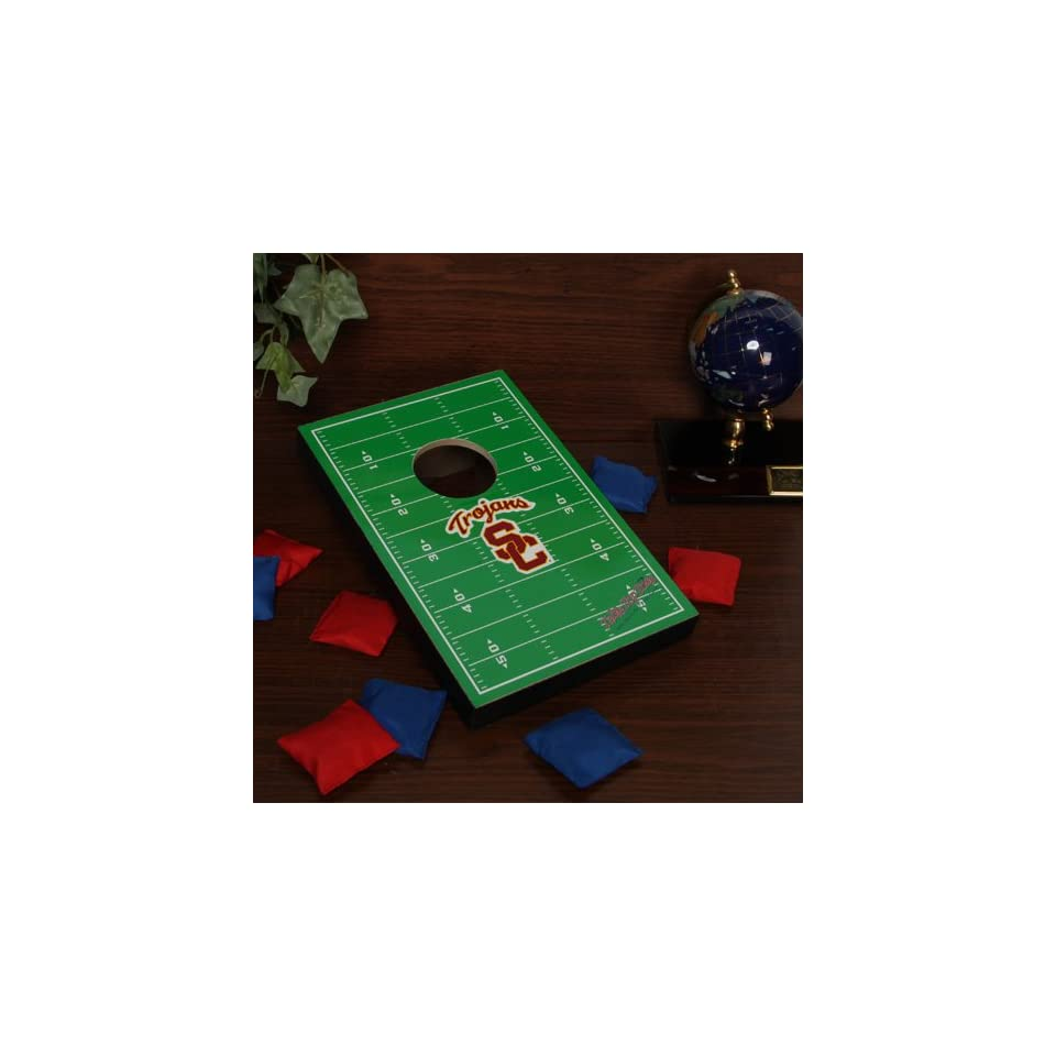 Peachy Usc Trojans Tabletop Football Bean Bag Toss Game On Popscreen Gamerscity Chair Design For Home Gamerscityorg