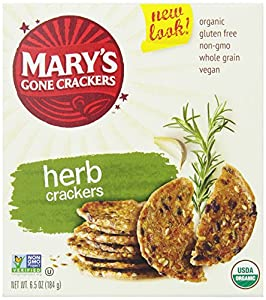 Mary's Gone Crackers, Herb, 6.5-Ounce Boxes (Pack of 12)