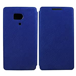 Heartly Premium Luxury PU Leather Flip Stand Back Case Cover For Huawei Honor 3 - Blue