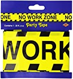 Beistle 66098 No Work Zone Party Tape, 3-Inch by 20-Feet