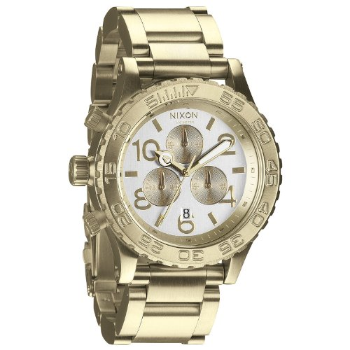 Nixon 42-20 Chronograph Champagne Dial Gold-tone Mens Watch A037-1219 [Watch]...