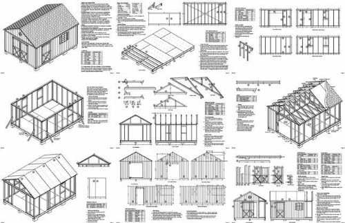 16 x 12 gable storage shed project plans design 21612 by plans design
