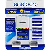 Panasonic Eneloop Rechargeable Batteries 8 AA, 4 AAA, & Quick LED Charger Kit