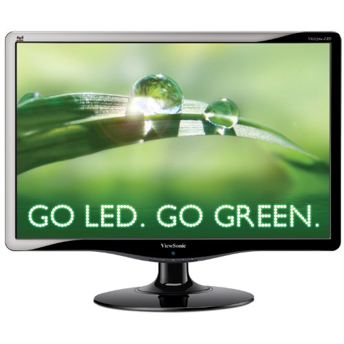 ViewSonic VA2231W-LED 22-Inch Widescreen LED Monitor with Speakers, DVI and Energy Star 5.0, 21.5-Inch Vis (Black)