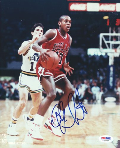 B.J. Armstrong Signed Bulls 8x10 Photo - PSA DNA at Amazon.com