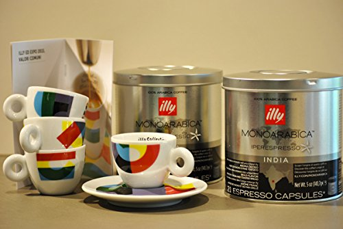 Purchase Illy Coffee Iperespresso India - Set 2 cans of 21 capsules each from Illy