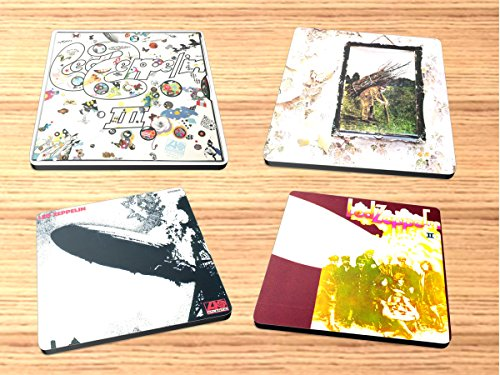 Led Zeppelin Rock and Roll Album Reproduction on Neoprene Coaster Set of 4