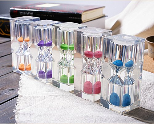 Sand Timer- Bloss Colorful Sandglass Tooth Brushing 3 Minute Hourglass for Kids and Teens Great Gift (5 Pcs) (Three Minute Sand Timer compare prices)