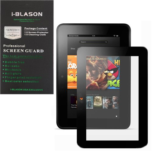 i-Blason HD Matte Anti Glare Bubble Free Screen Protector for Kindle Fire HD 8.9&quot; Inch Tablet 4G LTE Wifi Reusable (Black)