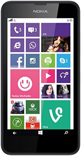Nokia Lumia 635 Smartphone Mikro SIM (11,9 cm (4,5 Zoll) Touchscreen, 5 Megapixel Kamera, Win 8.1)
