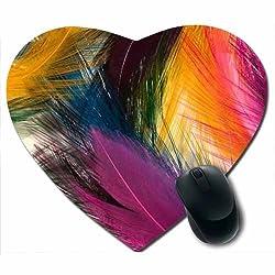 Awwsme Colourful Fly In Heart Mousepad