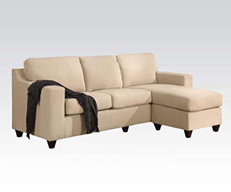 Vogue Microfiber Reversible Chaise Sectional Sofa by Acme Furniture