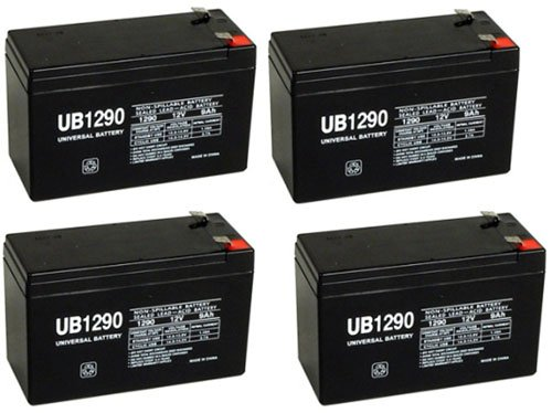 12V 9Ah Battery Sla9-12/T25 Replacement For Rhino Battery Each - 4 Pack