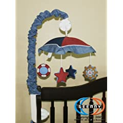 GEENNY Musical Mobile For Sailor CRIB BEDDING SET