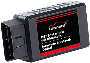 Lescars OBD2-Profi-Adapter mit Bluetooth-Übertragung für Androidgeräte