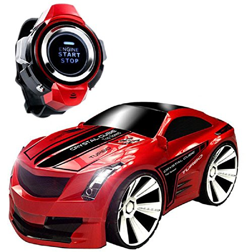 Comando Vocale Auto, Megadream Smart Watch Voice Control 2.4 G Frequenza batteria Creative RC auto con freni e Dazzling Fari voce ON/OFF per bambini studenti giocattoli regali