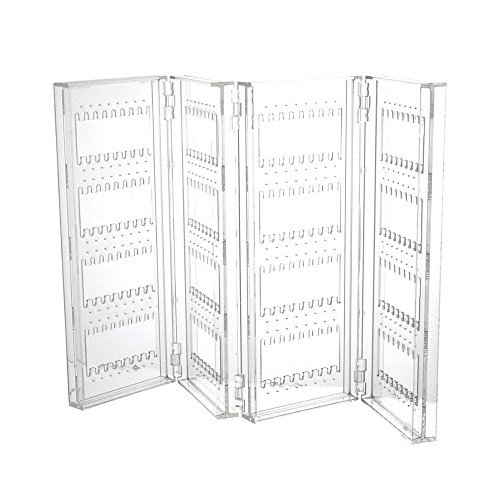 Sky Piea Acrylic Foldable 240 Grids Earring Jewelry Screen Holder (Earring Rack Wall compare prices)