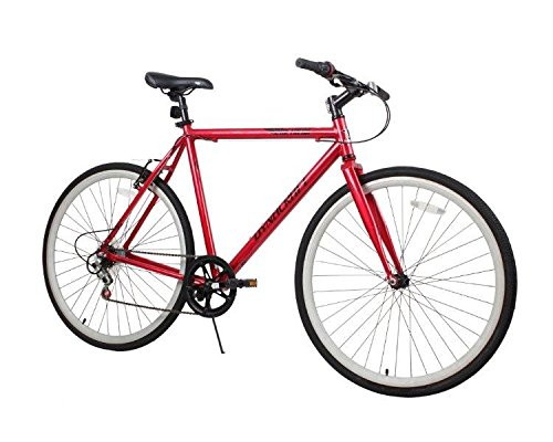 "Fantastic Deal! Dynacraft Men's 28"" 700C 3 Speed Metreon Bike, 22""/One Size, Red/Black"