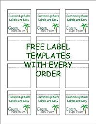 Customizable Lip Balm Labels   10 Sheets   120 Labels