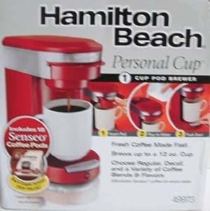Hamilton Beach 49973 Dcm Personal Cup Pod Brewer- Red