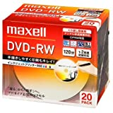 maxell 録画用 DVD-RW 120分 2倍速対応 インクジェットプリンタ対応ホワイト(ワイド印刷) 20枚 5mmケース入 DW120PLWP.20S