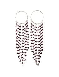 Shop Garnet Hoop Style Gemstone Earring