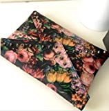 oMyBigDeal Hot Lady Girl Women Skeleton Grains Envelope Bag Clutch Handbag Shoulder Bag Oil Painting