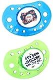 ESSKA moda de látex (transparente azul / verde transparente, Pack de 2)