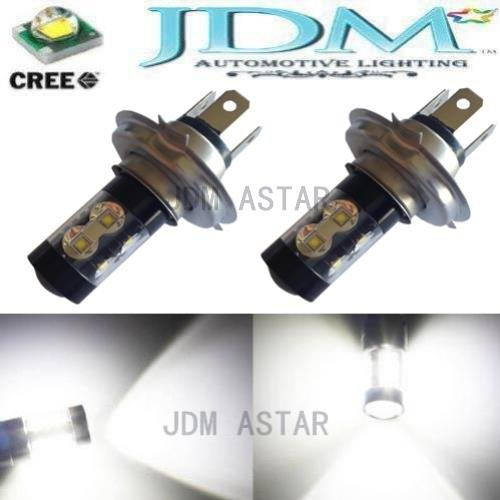 Jdm Astar Extremely Bright Max 50W High Power H4 Cree Led Bulbs For Drl Or Fog Lights, Xenon White