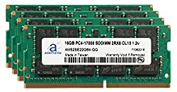 Adamanta 64GB (4x16GB) Laptop Memory Upgrade for Dell New Precision 17 7000 Series 7710 DDR4 2133Mhz PC4-17000 SODIMM 2Rx8 CL15 1.2v Notebook DRAM