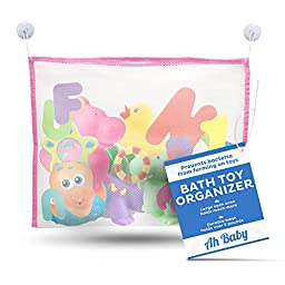 Ah Baby Net Bath Toy Organizer Bag with Large Storage Keeps Kids Safe From Harmful Mold