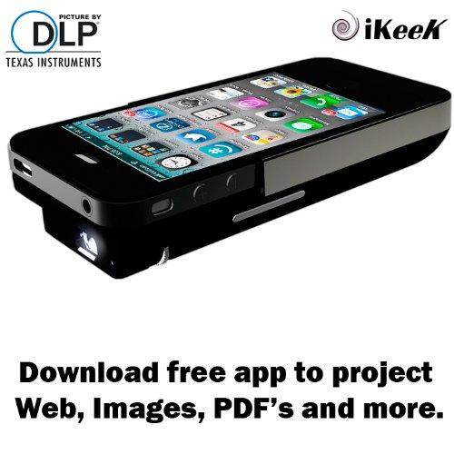 Apple Iphone4 4s DLP Pocket Projector, 2100mAh External Power