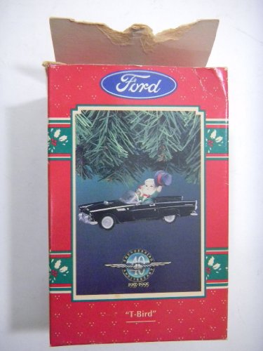 "Enesco "" T Bird "" Ford 40Th Anniversary Limited Edition Light Box Damage View Pictures"