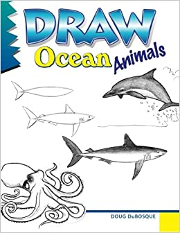 how to draw ocean animals step by step