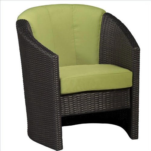 Home Style 5803-80 Riviera Barrel Accent Chair, Green Apple Finish image