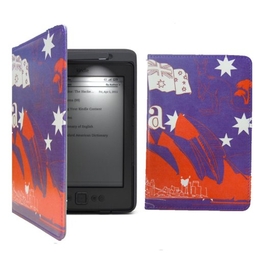 Top Rate Leather Case Cover For Amazon Kindle 4Th 5Th Build In Light Led Lamp Australia
