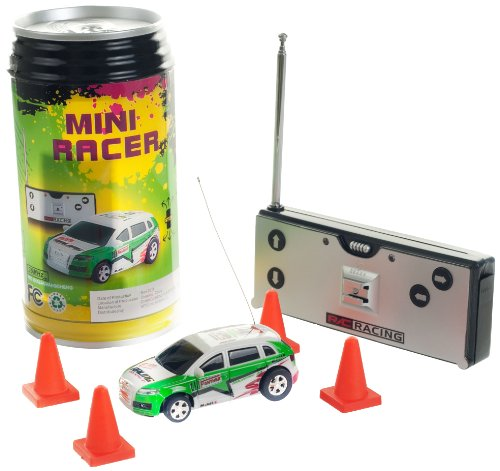 R/C Racing Mini Racer Remote Control Car in a Can - Green